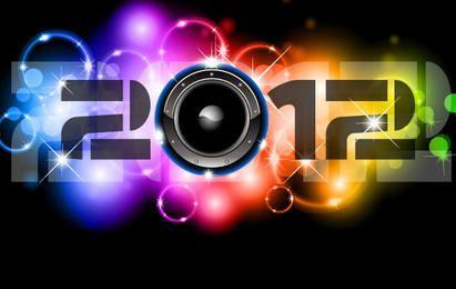Happy New Year 2012 Vectors
