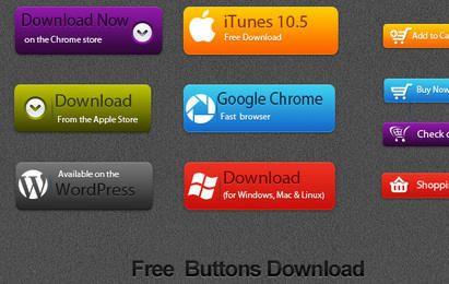 Vector libre del botón de descarga
