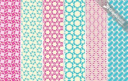 6 Tileable Vector Patterns