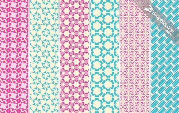 6 patrones vectoriales enlosables