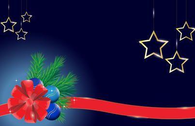 Xmas Background with Shiny Ornaments