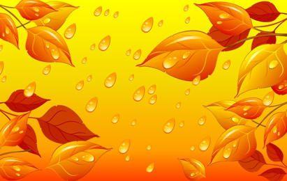 Herbstlaub-Vektor-Illustration