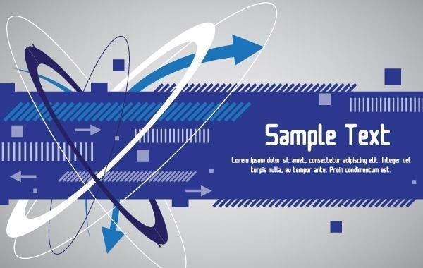 Techno Blue Banner Design