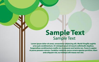 Diseño de vector de tarjeta de árbol