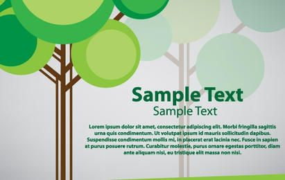 Tree card vector design