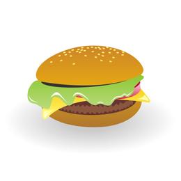 Cheeseburger-Vektor