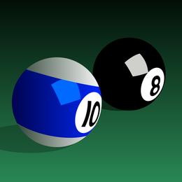 Vetor de bolas de bilhar