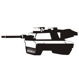 Abrams tank vector