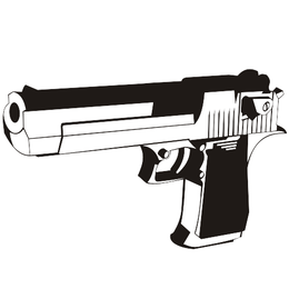 Black & White Desert Eagle Handgun