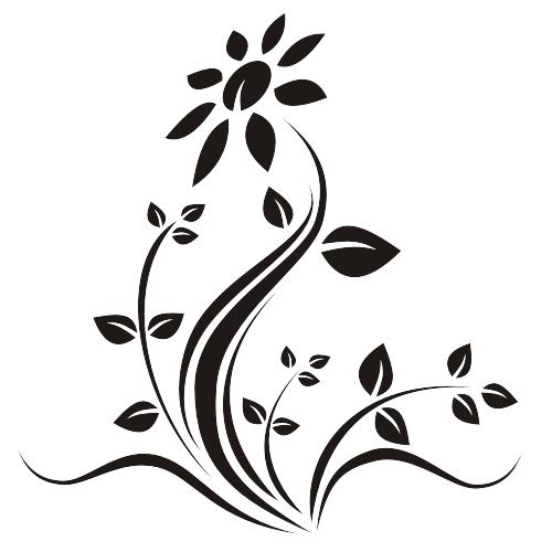 Limpe Preto Flor Plantas Baixar Vector