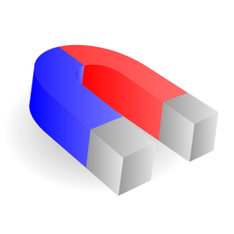 Ímã em ferradura abstrato 3D
