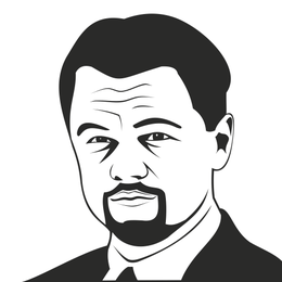 Leonardo DiCaprio retrato bosquejado