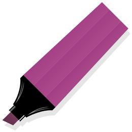 Flat Purple Color Marker Pen