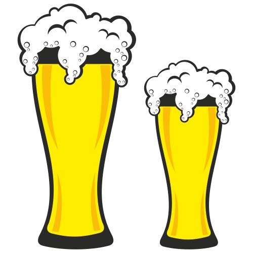 Couple of German Pint Beer Glasses