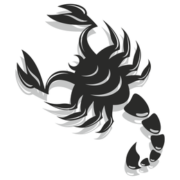 Black & White Flat Scorpion