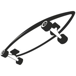 Esboço de skate em preto e branco