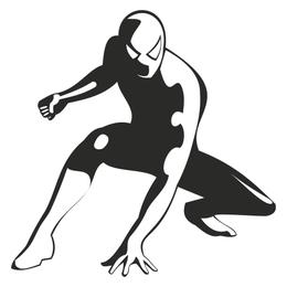 Desenho abstrato de homem-aranha