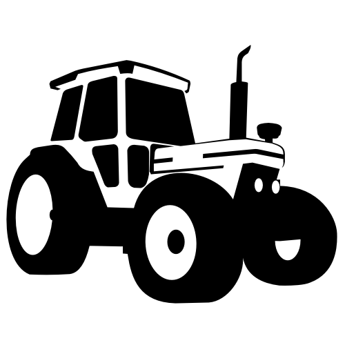 Tractor Front Grill Clip Art : Silhouette traced tractor vehicle vector download