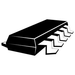 Chip eléctrico negro y blanco