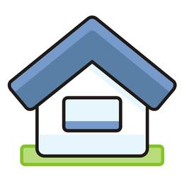 Bonito, simplista, casa, ícone