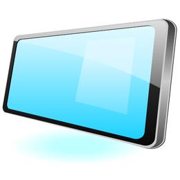 Vector plano brillante de Tablet PC