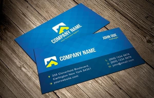 cool blue vector business card template vector download