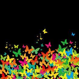 Fondo de mariposa pintado plano