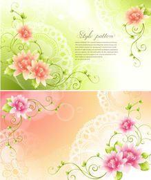 Fresh Swirling Flourish Invitation Card
