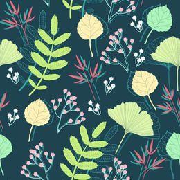 Fondo de plantas de primavera estilo funky