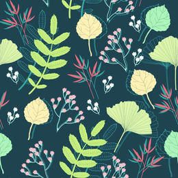 Funky Style Spring Plants Background