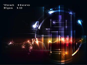 Bunter Energietechniker-Kreis-Hintergrund