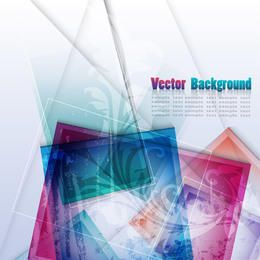 Abstrakter Hintergrund der fluoreszierenden bunten Quadrat-Quadrate