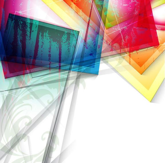 Fluorescent Colorful Glass Sheets Abstract Background - Vector download