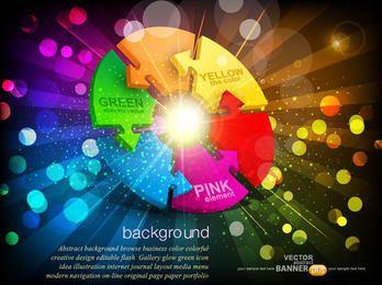 Fluorescent Vivid Arrow Wheel Background