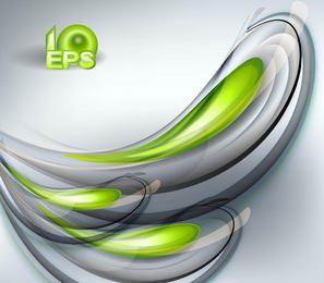 Halo de fondo de salpicadura fluorescente verde y gris