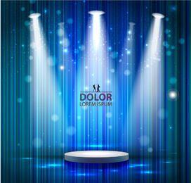 Stage Lighting Blue Linen Background