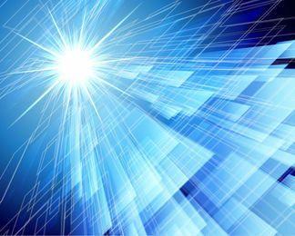 Blauer abstrakter Hightech-Quadrat-Hintergrund