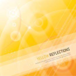 Fondo amarillo de reflexión con líneas y sombras