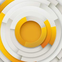 Brillante superposición pegatina círculos de borde de corte