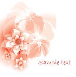 Bando de flores abstratas de flor cheia