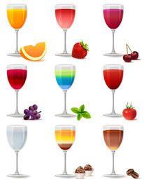 Glas saftige Getränkepackung