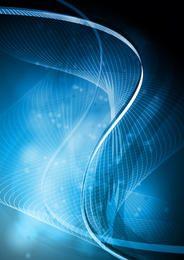 Verdrehte Glühen-blaue Spirale zeichnet Hintergrund