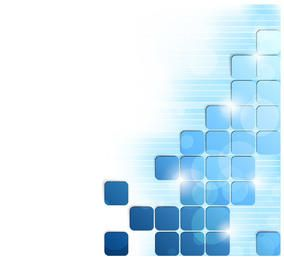 Glowing Blue Puzzling Squares Background