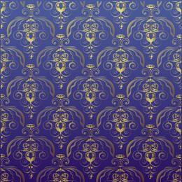 Goldenes antikes Damast-nahtloses Muster