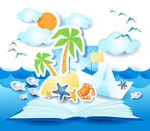 Funky Summer Beach Sticker