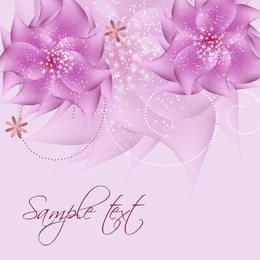 Romantic Full Blossom Pink Flower Sparkles Background