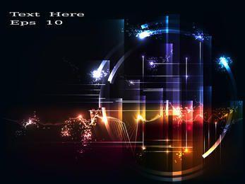 Hightech-Kreis-Linien u. Blendender Hintergrund