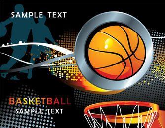 Fundo de basquete legal com meios-tons