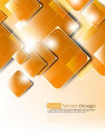 Kreativer glänzender angehäufter oben in Verlegenheit gehaltener Quadrat-Hintergrund