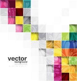 Azulejos de colores abstractos formados patrón floral